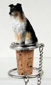 Shetland Sheepdog Bottle Stopper (Tricolor)