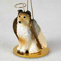 Shetland Sheepdog Christmas Ornament Angel