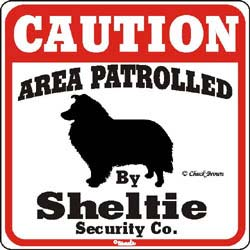 Shetland Sheepdog Caution Sign