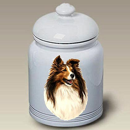 Shetland Sheepdog Treat Jar
