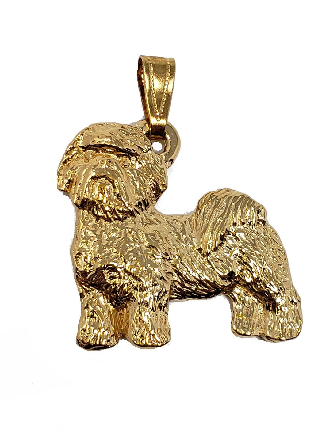 Shih Tzu 24K Gold Plated Pendant Puppy Cut