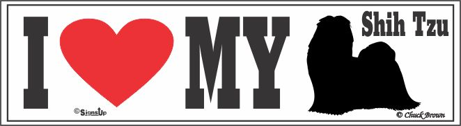 Shih Tzu Bumper Sticker I Love My