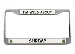 Shrimp License Plate Frame