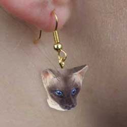 Siamese Cat Authentic Earrings