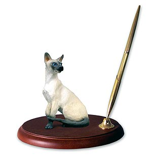 Siamese Cat Pen Holder