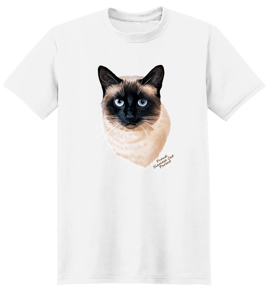 Siamese Cat T Shirt - Proud Parent