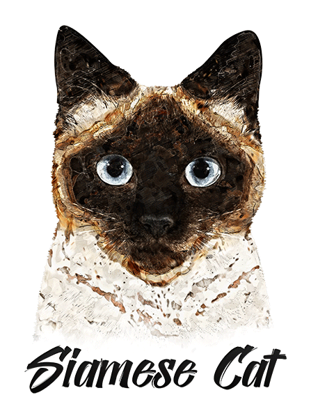 Siamese Cat T-Shirt - Vivid Colors