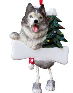 Siberian Husky Christmas Tree Ornament - Personalize