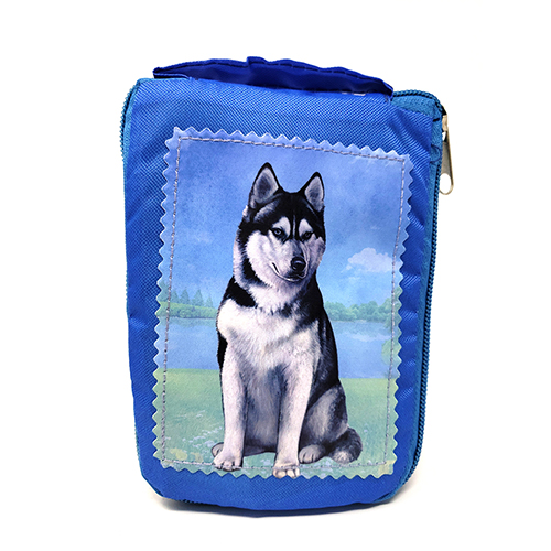 Siberian Husky Tote Bag - Foldable to Pouch