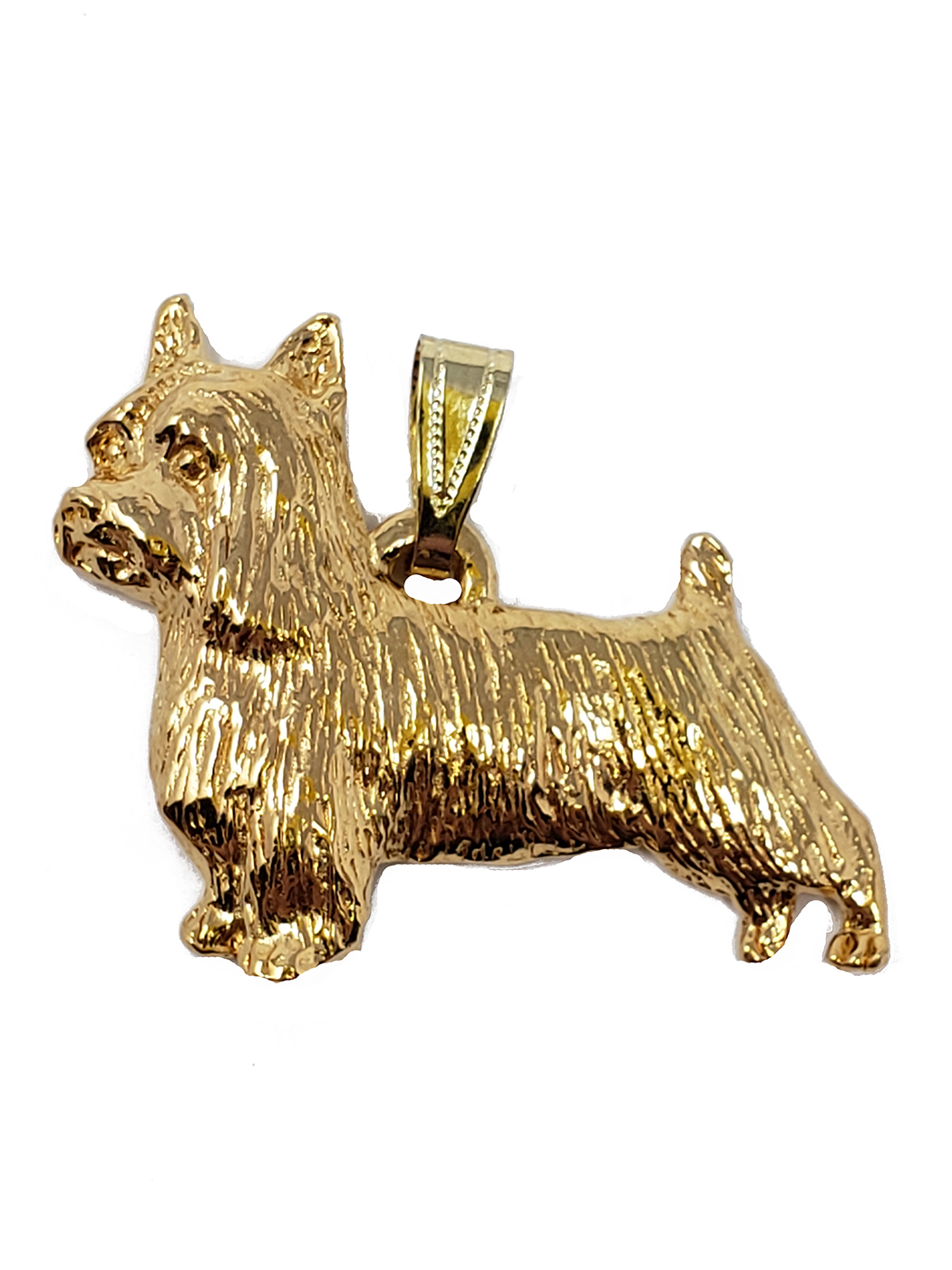 Silky Terrier 24K Gold Plated Pendant