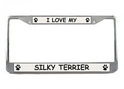 Silky Terrier License Plate Frame