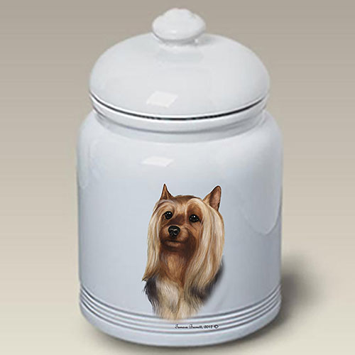 Silky Terrier Treat Jar
