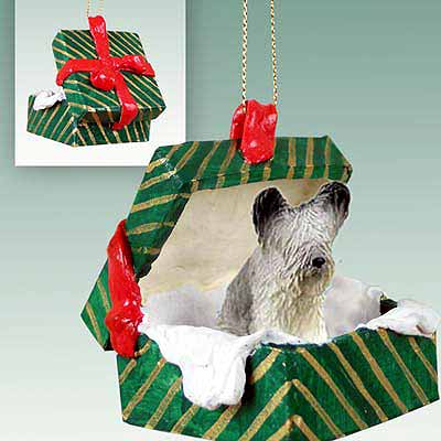 Skye Terrier Gift Box Christmas Ornament