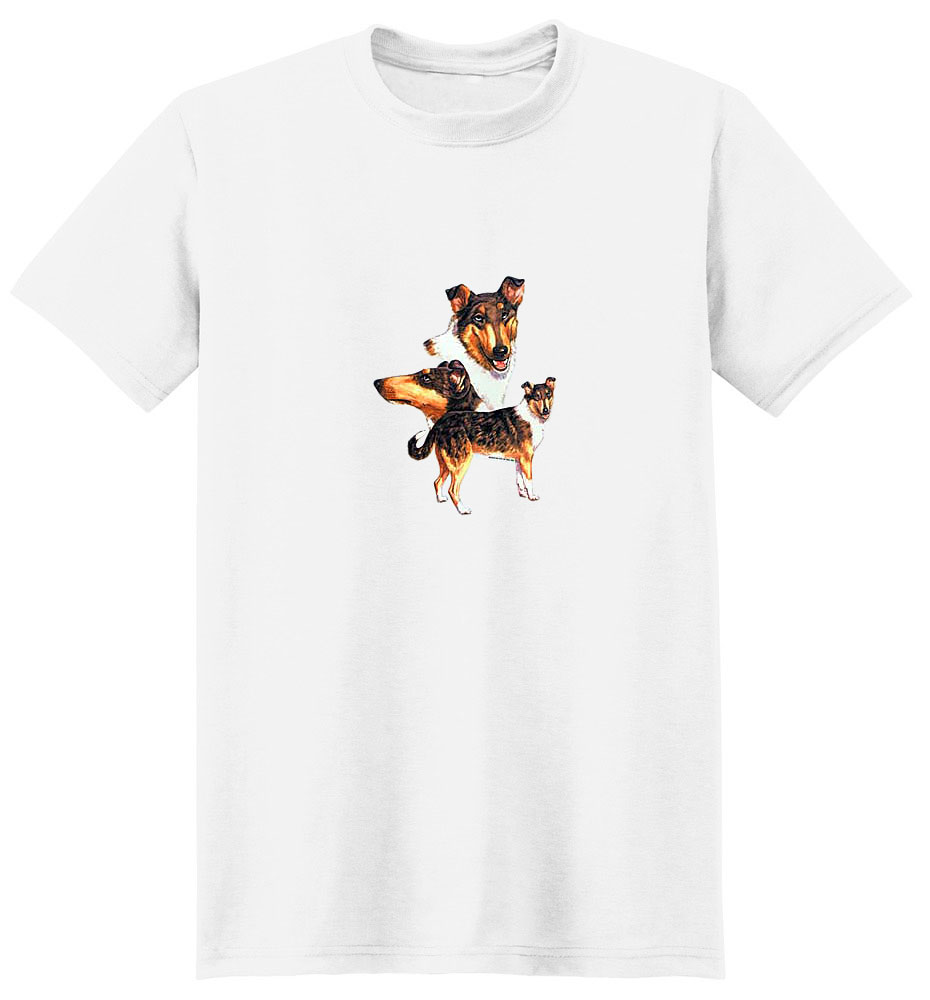 Smooth Hair Collie T-Shirt - Collage