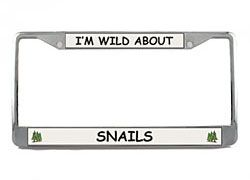 Snail License Plate Frame
