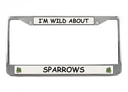 Sparrow License Plate Frame