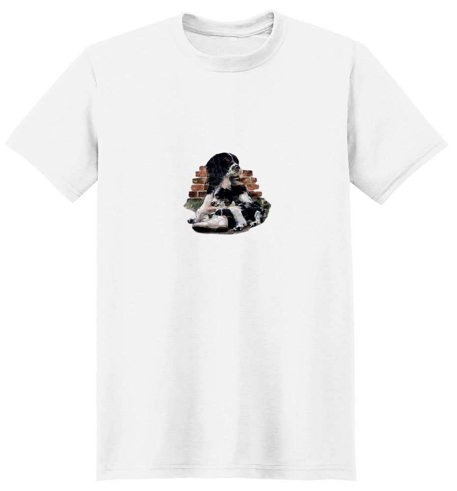 Springer Spaniel T-Shirt - Mom with Pup