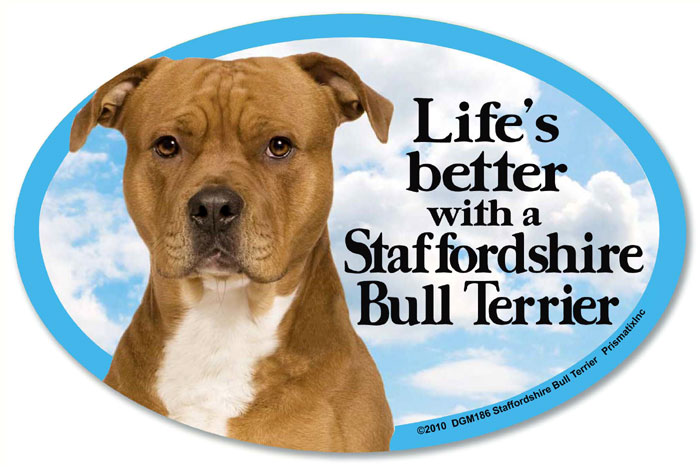 Staffordshire Bull Terrier Car Magnet - Life's Better