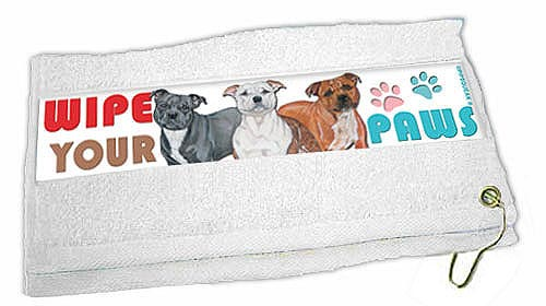 Staffordshire Bull Terrier Paw Wipe Towel