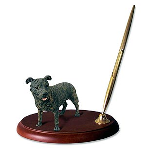 Staffordshire Bull Terrier Pen Holder