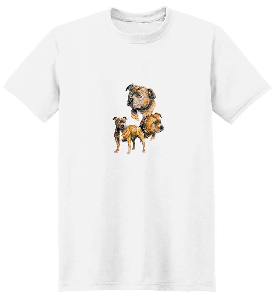 Staffordshire Bull Terrier T-Shirt - Best Friends