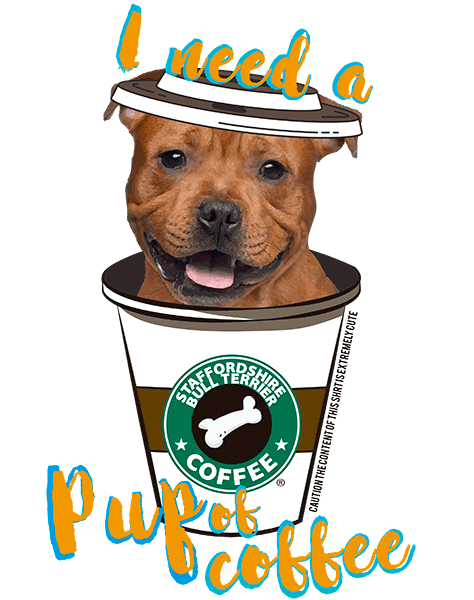 Staffordshire Bull Terrier T Shirt Brown - Coffee Mug