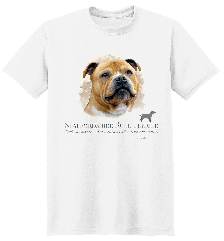 Staffordshire Bull Terrier T Shirt by Howard Robinson