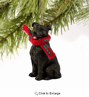 Staffordshire Bull Terrier Tiny One Christmas Ornament Brindle