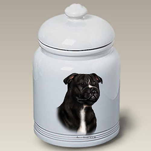 Staffordshire Bull Terrier Treat Jar