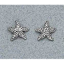 Starfish Earrings Sterling Silver