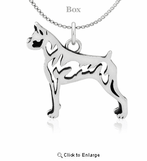 Sterling Silver Boxer Body Necklace