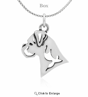 Sterling Silver Boxer Natural Ear Necklace