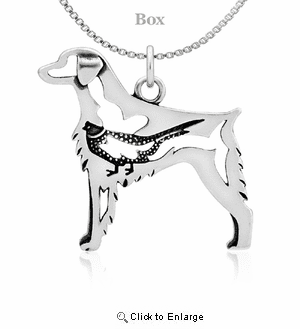 Sterling Silver Brittany W/Pheasant Necklace