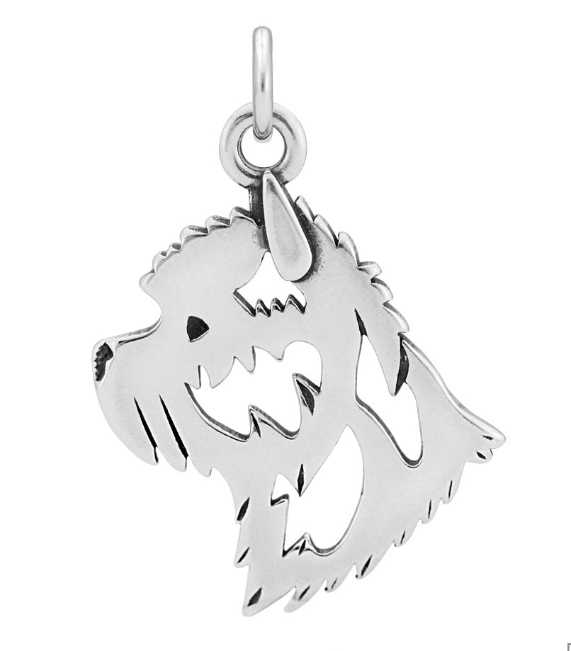 Sterling Silver Cairn Terrier Head Necklace