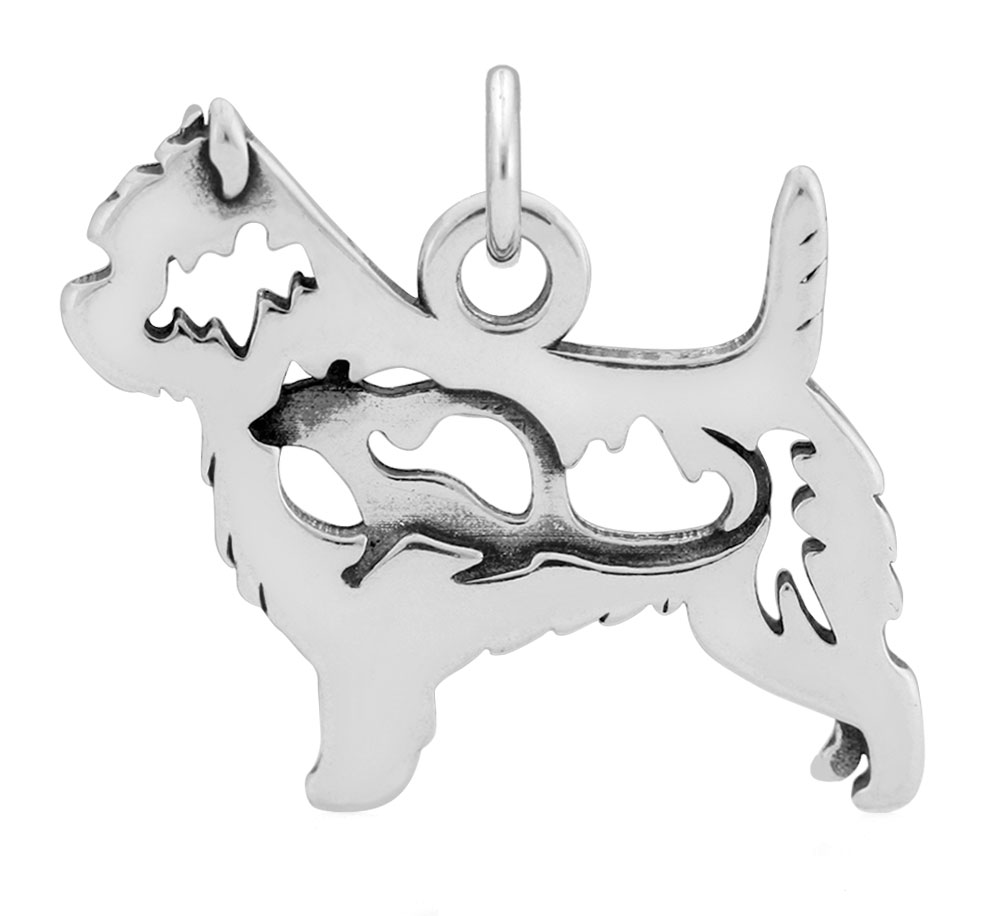 Sterling Silver Cairn Terrier W/Rat Body Necklace