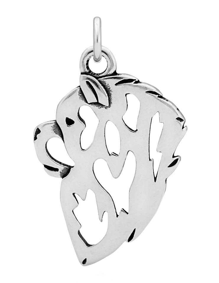 Sterling Silver Chow Chow Head Necklace