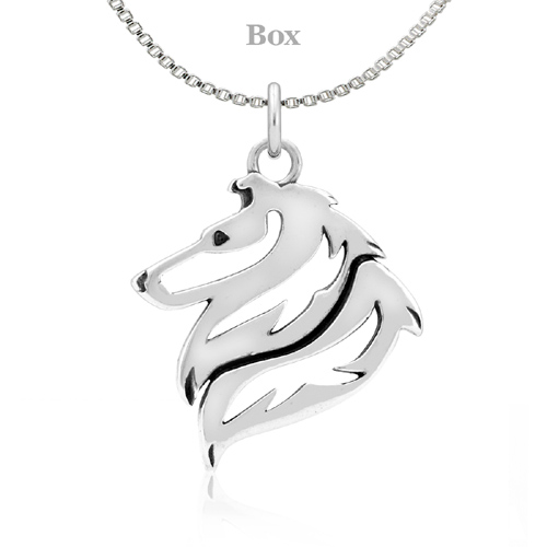 Sterling Silver Collie Necklace