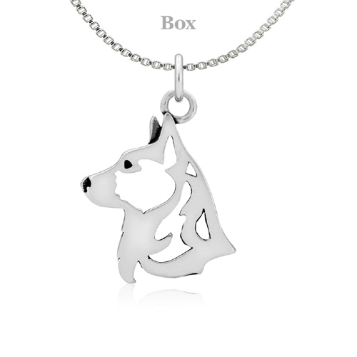 Sterling Silver Corgi Cardigan Necklace