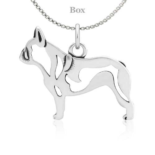 Sterling Silver French Bulldog Body Necklace