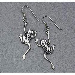 Sterling Silver Frog Earrings