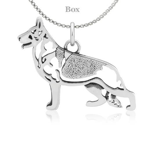 Sterling Silver German Shepherd Body Necklace