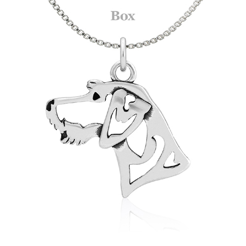Sterling Silver German Wirehaired Pointer Necklace