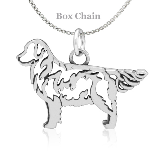 Sterling Silver Golden Retriever Body Necklace
