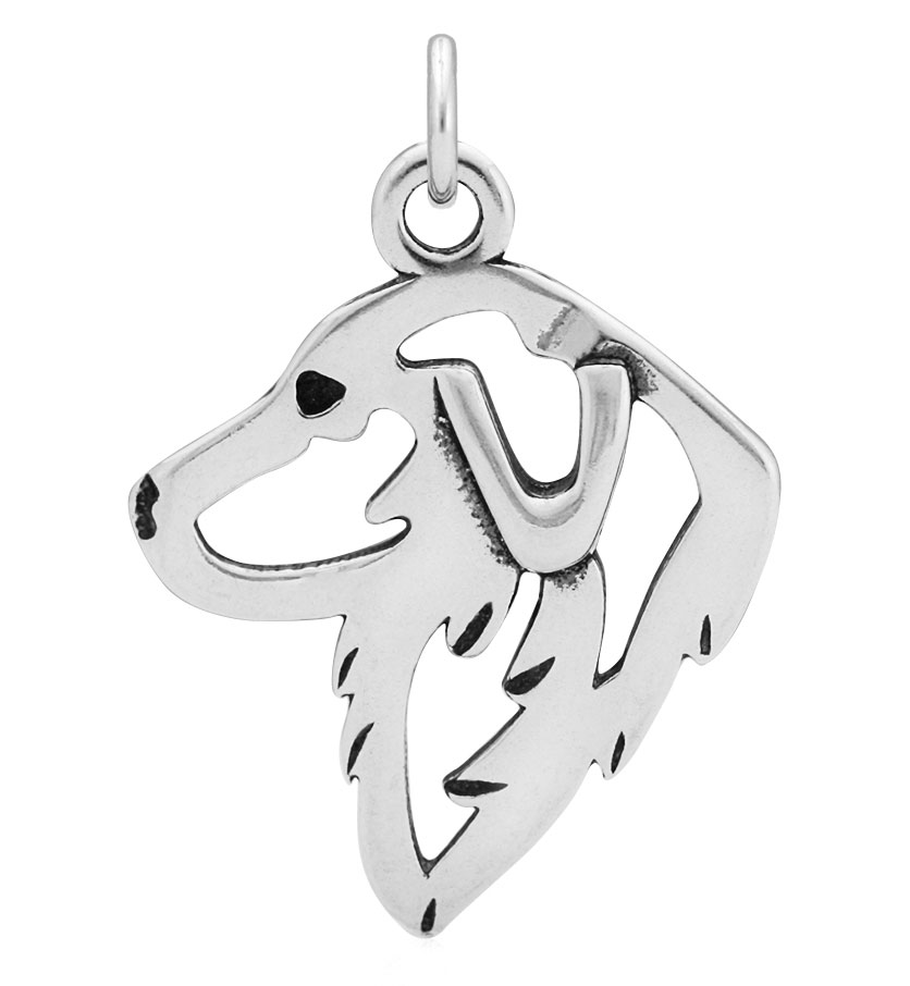 Sterling Silver Great Pyrenees Head Necklace