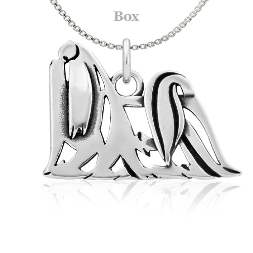 Sterling Silver Maltese Body Necklace