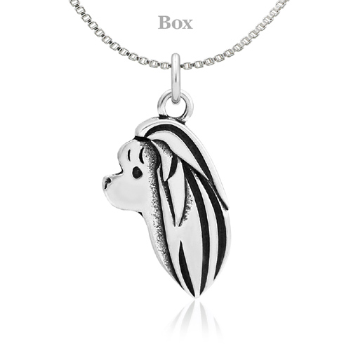 Sterling Silver Maltese Head Necklace