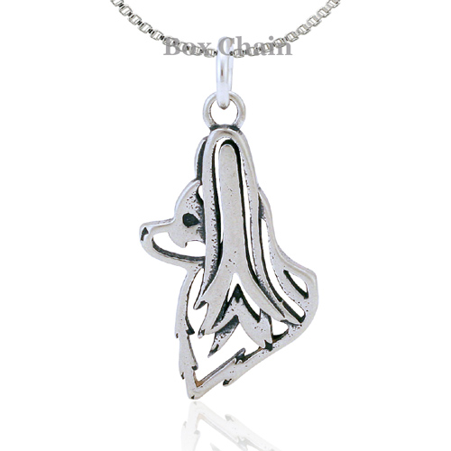 Sterling Silver Papillon Head Necklace