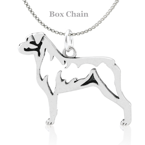 Sterling Silver Rottweiler Body Necklace