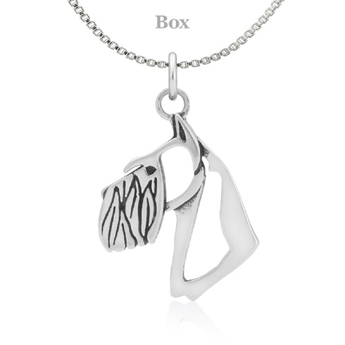 Sterling Silver Schnauzer Cropped Ear Necklace