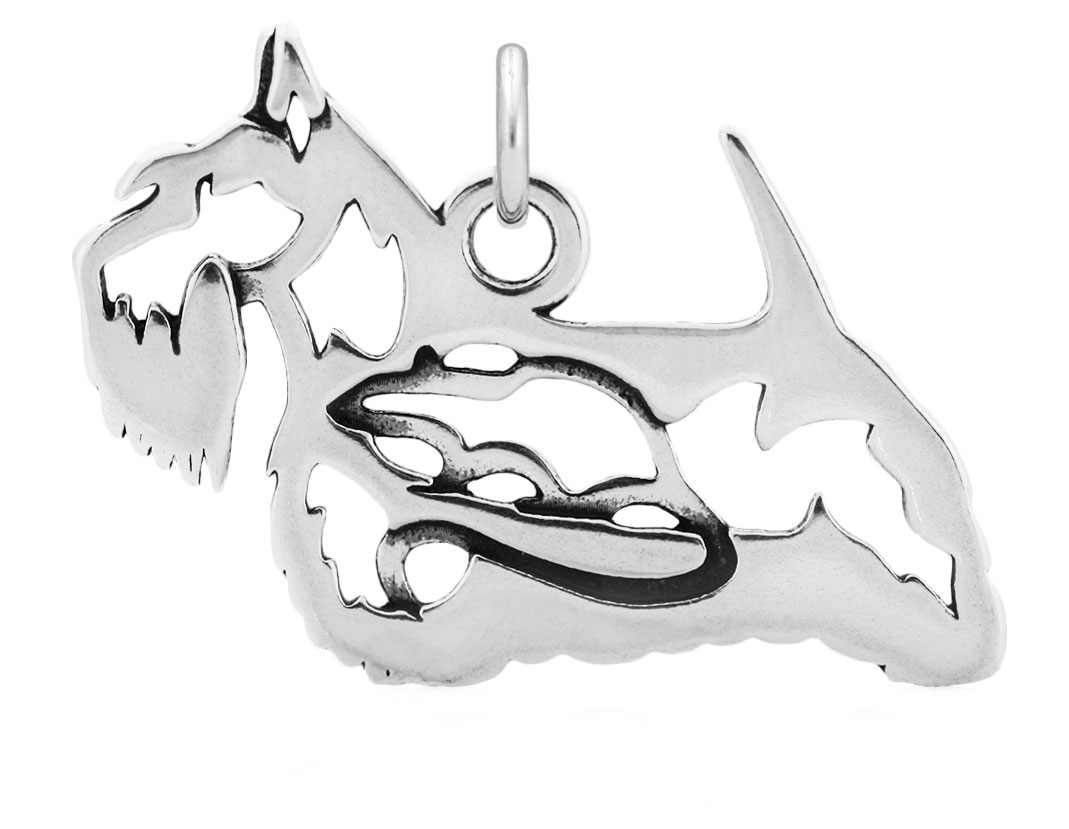 Sterling Silver Scottish Terrier Body Necklace